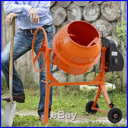 140Litre-2800 rpm 550W Concrete Cement Mixer With Stand Hand Wheel 240V Electric
