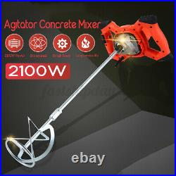 2100W Drywall Mortar Mixer Cement Render Paint Tile Concrete Plaster Rotary T