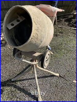Belle Minimix 150 240V Electric Concrete Cement Mixer with stand