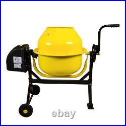 Charles Bentley 63L 230V 220W Portable Cement Concrete Sand Mixer with Wheels