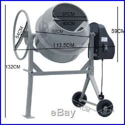 Commercial Electric 140L Mixing Machine Concrete/Mortar/Animal Feed Cement Mixer