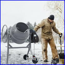 Electric 360° Cement Mixer Portable Mortar Plaster Concrete Drum with Stand 240V