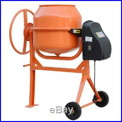 Electric Barrel Cement Mixer 550W 140L Large Concrete Mixing With Portable Stand