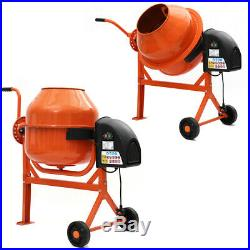 Electric Cement Mix Portable Concrete Mortar Mixing Machine Building With Wheel