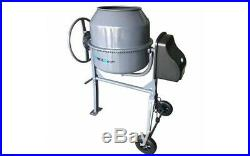 Electric Cement Mixer Portable Steel Concrete Mortar Mixing Machine with Wheels
