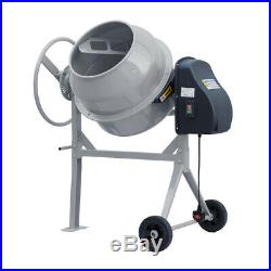 Large Professional 120 Liters Concrete Cement Mixer With Wheel Round Handle 220V