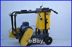 NEW Packer Brothers 16 walk-behind concrete saw Electric cement saw