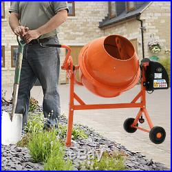 Pro Industrial Cement Mixer Seeds Grey Electric Concrete Mixing Machine 120 140L