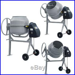 Professional 63,120,140 Litres Concrete Cement Mixer With Stand And Wheels 240v